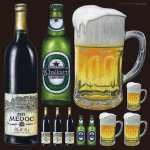 アルコール 看板・ボード用イラストシール (W285×H285mm)