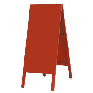 木製A型案内板 カラー:赤 (WA450R)