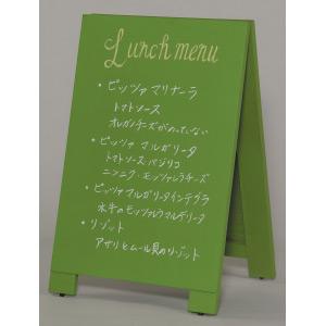 木製A型案内板 mini カラー:緑 (WA60-GS)