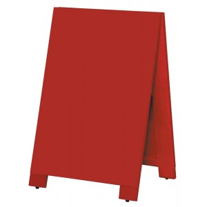 木製A型案内板 mini カラー:赤 (WA60-RS)